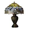 Meyda Tiffany 24-in Mahogany Bronze Indoor Table Lamp with Tiffany-Style Shade