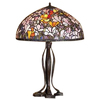 Meyda Tiffany 30-in Mahogany Bronze Tiffany-Style Table Lamp with Glass Shade