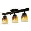 Meyda Tiffany Wood Ducks 6-in W 3-Light Golden Pine Kitchen Island Light with Tiffany-Style Shade