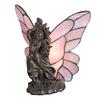 Meyda Tiffany Drifting Fairy 8-in Mahogany Bronze Tiffany-Style Indoor Table Lamp with Glass Shade