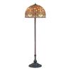 Meyda Tiffany 64-in Mahogany Bronze Tiffany-Style Indoor Floor Lamp with Glass Shade