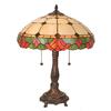Meyda Tiffany 21.5-in Mahogany Bronze Indoor Table Lamp with Tiffany-Style Shade
