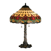 Meyda Tiffany 25.5-in Mahogany Bronze Tiffany-Style Indoor Table Lamp with Tiffany-Style Shade
