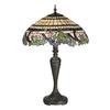 Meyda Tiffany 28-in Mahogany Bronze Tiffany-Style Indoor Table Lamp with Tiffany-Style Shade