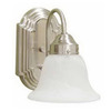Volume International 6-in W Minster 1-Light Brushed Nickel Arm Wall Sconce
