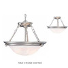 Volume International 28-in W Lunar Brushed Nickel Pendant Light