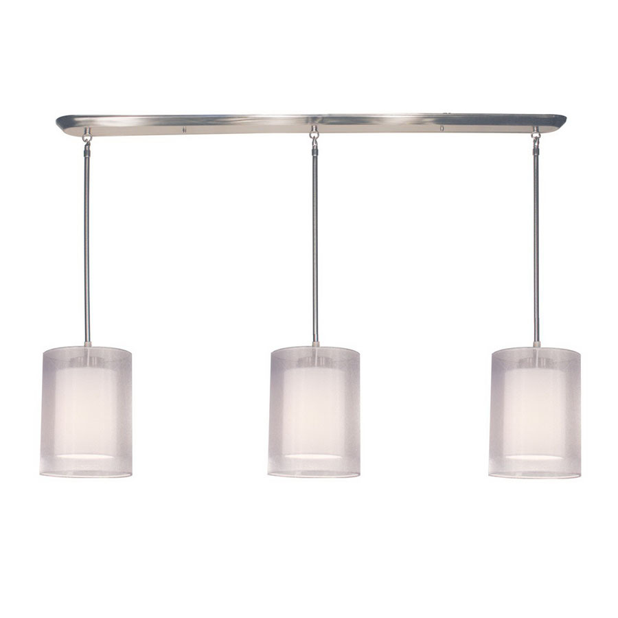 shop z lite nikko 6 in w 3 light brushed nickel kitchen island light