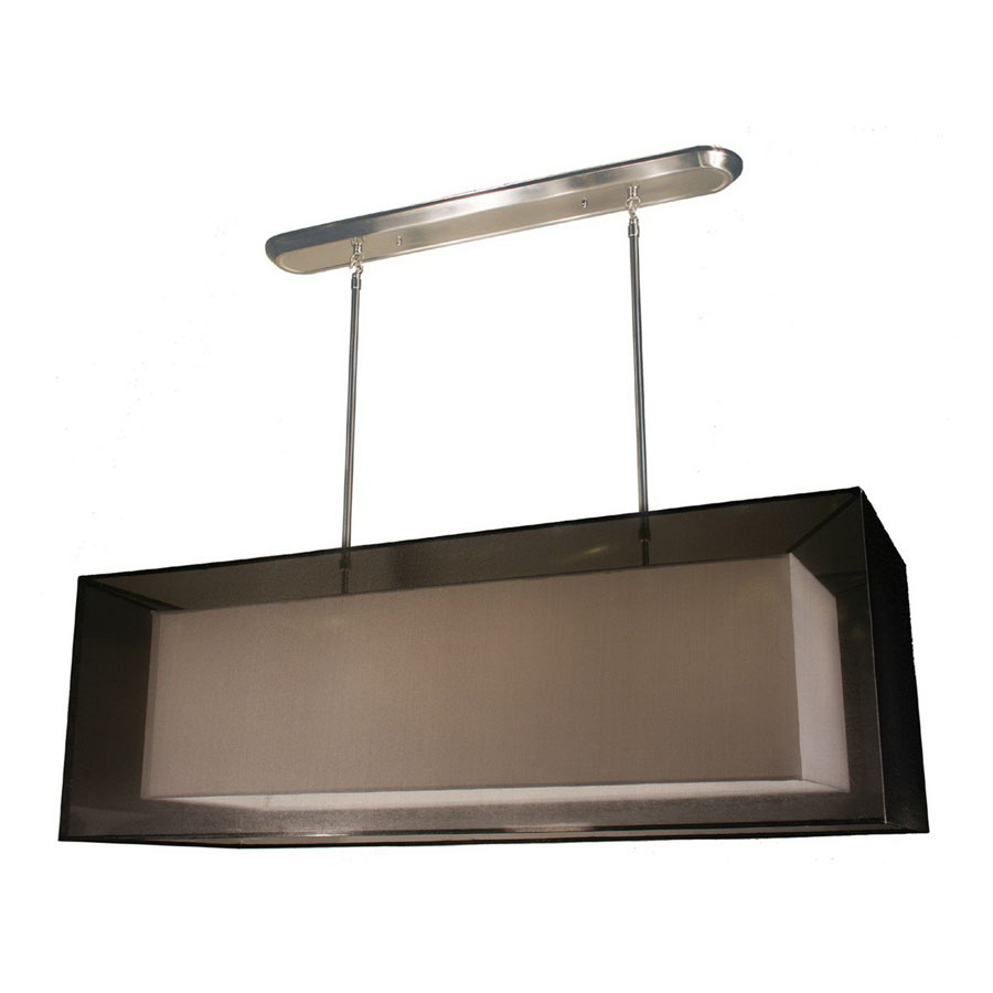 Shop Z Lite Nikko 17 In W 4 Light Brushed Nickel Kitchen Island Light With Shade At
