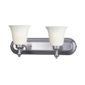 Shop Z-Lite 2-Light Hollywood Brushed Nickel Bathroom Vanity Light at Lowes.com