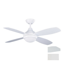 Kendal Lighting 42-in Aviator White Ceiling Fan with Light Kit and Remote