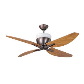 Kendal Lighting 52-in Savoy Oil-Brushed Bronze Ceiling Fan with Light Kit and Remote