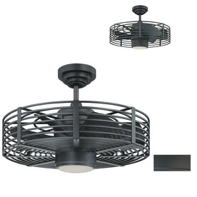 Kendal Lighting 23-in Enclave Natural Iron Ceiling Fan with Light Kit and Remote