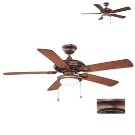 Kendal Lighting 52-in Builders Choice Oil-Brushed Bronze Ceiling Fan with Light Kit