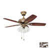 Kendal Lighting 42-in Cordova Antique Brass Ceiling Fan with Light Kit