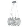 EGLO 22-in W Drifter Chrome Pendant Light with Clear Shade