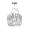 EGLO 16-in W Drifter Chrome Pendant Light with Clear Shade