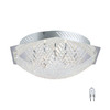 EGLO 16-3/4-in Chrome Crystal Ceiling Flush Mount