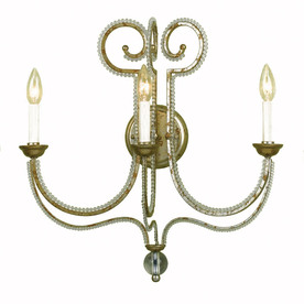 Candice Olson by AF Lighting Candice Olson 21-in W 3-Light Soft Gold Arm Hardwired Wall Sconce