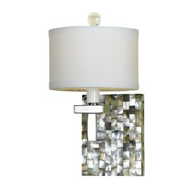 Candice Olson by AF Lighting 6-in W Candice Olson Sahara 1-Light Mosaic Art Glass Arm Wall Sconce