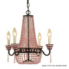AF Lighting 4-Light Parlor Bronze Chandelier