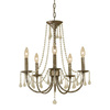 AF Lighting 5-Light Tracee Golden Tortoise Chandelier