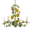 AF Lighting 4-Light Kansas Antique Cream Chandelier