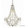 AF Lighting 1-Light Castile Chrome Chandelier