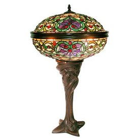 Warehouse of Tiffany 28-in Tiffany-Style Indoor Table Lamp with Glass Shade