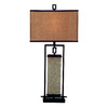 Kenroy Home Plateau 32-in 3-Way Oil-Rubbed Bronze Table Lamp with Fabric Shade