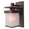 Kenroy Home Boulder 7-in W 1-Light Natural Slate and Copper Arm Hardwired Wall Sconce