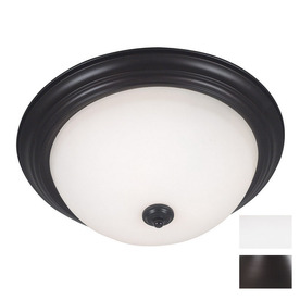 Kenroy Home 15-in W Oil-Rubbed Bronze Ceiling Flush Mount