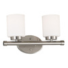 Kenroy Home 2-Light Mezzanine Brushed Steel Bathroom Vanity Light