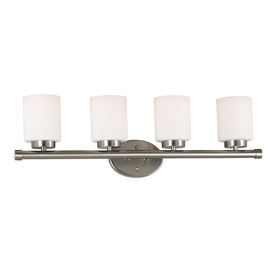 Kenroy Home 4-Light Mezzanine Brushed Steel Bathroom Vanity Light