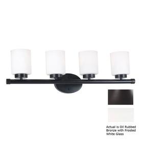 Kenroy Home 4-Light Mezzanine Oil-Rubbed Bronze Bathroom Vanity Light