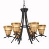 Kenroy Home Wright 6-Light Bronze Chandelier