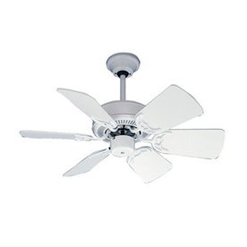 Nicor Lighting 30-in Flurry White Ceiling Fan