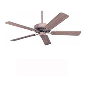 Nicor Lighting 52-in Masterbuilder Weathered Brick Ceiling Fan ENERGY STAR