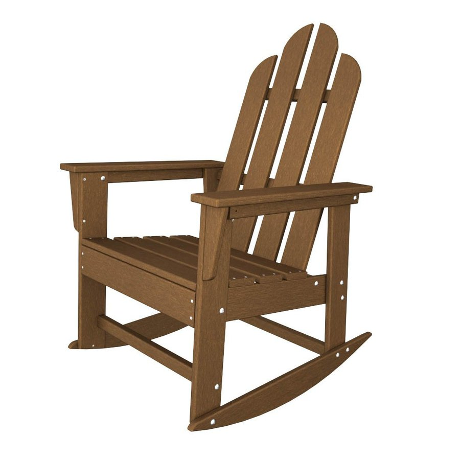 ... Teak Recycled Plastic Rocking Casual Adirondack Chair at Lowes.com