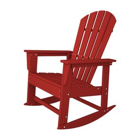 Shop POLYWOOD South Beach Sunset Red Recycled Plastic Rocking Casual ...