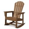 POLYWOOD South Beach Teak Plastic Rocking Chair