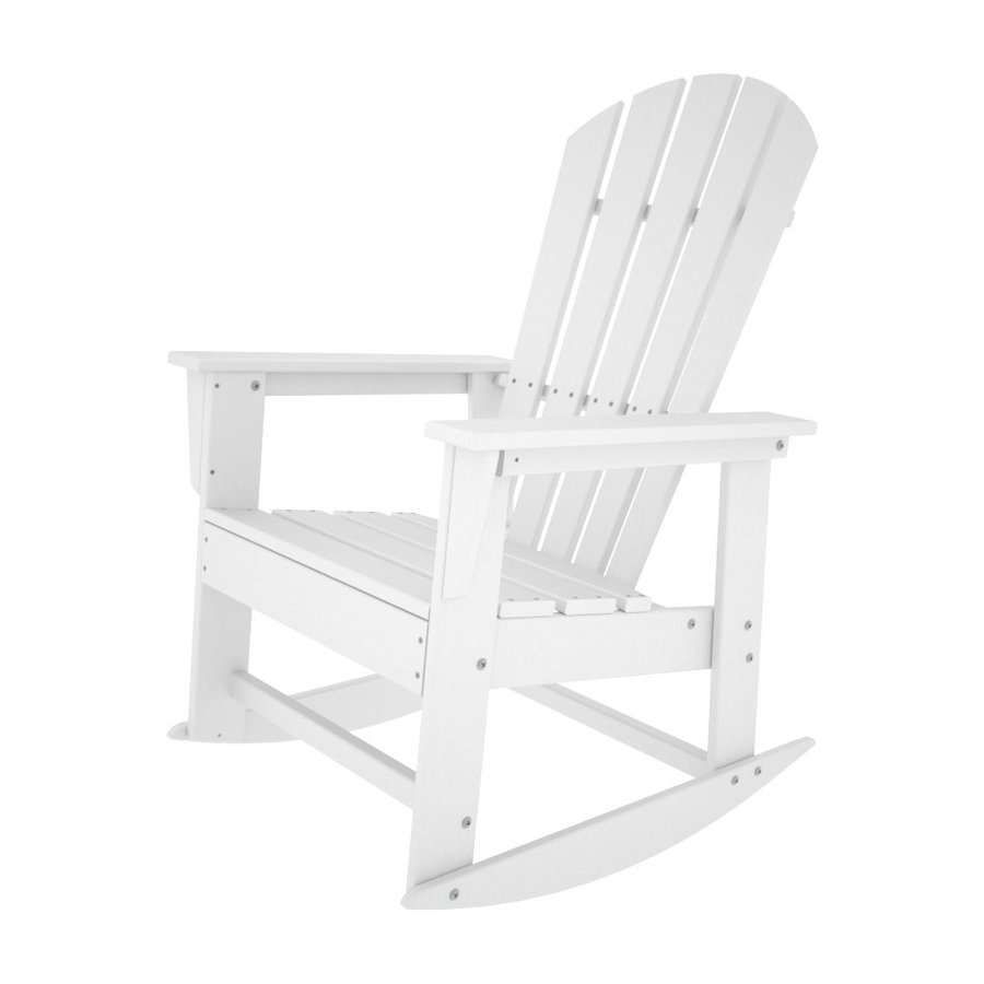... White Recycled Plastic Rocking Casual Adirondack Chair at Lowes.com
