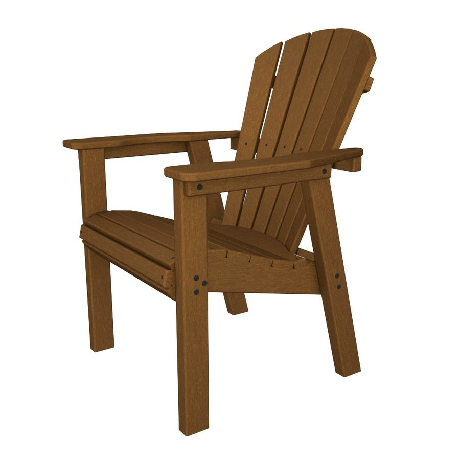 ... Seashell Teak Recycled Plastic Casual Adirondack Chair at Lowes.com
