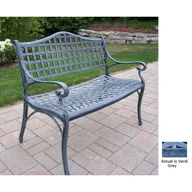 Oakland Living 35-1/2-in L Aluminum Patio Bench