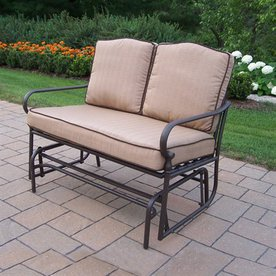 Oakland Living 36-1/2-in L Steel/Iron Patio Bench