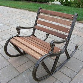 Oakland Living 28-in L Steel/Iron Patio Bench