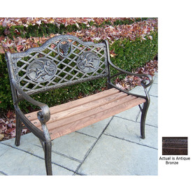 Oakland Living 22-in L Steel/Iron Patio Bench