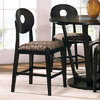 Steve Silver Company Optima Black 24-in Counter Stool