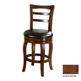 Furniture of America Southland Dark Oak 24-in Counter Stool