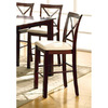 Furniture of America Ocean View Dark Cherry 24-in Counter Stool