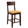 Furniture of America Portsmouth Dark Walnut 25-in Counter Stool